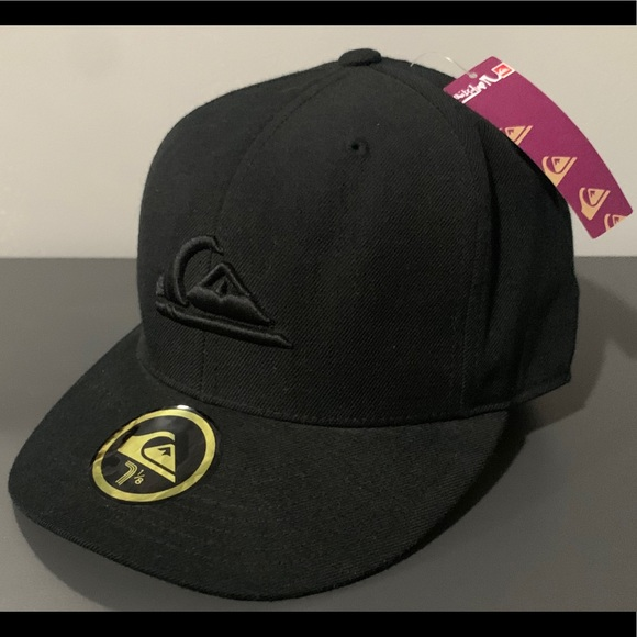Quiksilver Other - Quicksilver DOBBY Fitted Baseball Hat/Cap Black XS
